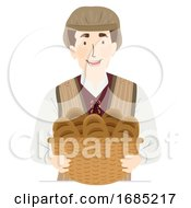 Man Medieval Baker Illustration