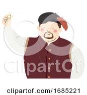 Man Medieval Merchant Illustration