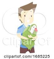 Man Save Goose Illustration