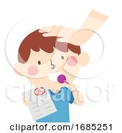 Kid Boy Exam Sweet Reward Illustration