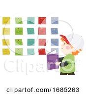 Kid Boy Sticky Labels Illustration