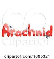 Arachnid Lettering Illustration