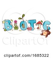Biotic Lettering Illustration