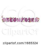 Decomposer Lettering Illustration