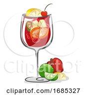 Sangria Cocktail Illustration