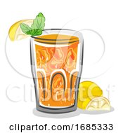 Iced Lemon Mint Illustration