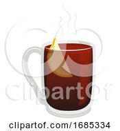 Gluhwein Hot Wine Illustration