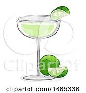Gimlet Cocktail Illustration