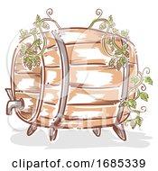 Beer Barrel Hops Illustration