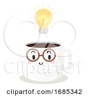 Mascot Coffee Boost Ideas Study Hack Illustration
