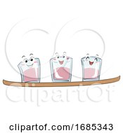 Mascot Shot Ski Illustration