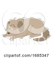 Dog Dying Shiver Illustration