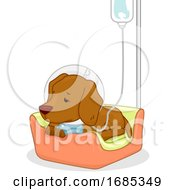 Poster, Art Print Of Dog Pet Dextrose Sick Illustration