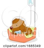 Dog Pet Dextrose Sick Illustration