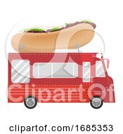 Poster, Art Print Of Philly Cheese Steak Sandwich Food Truck