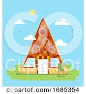Poster, Art Print Of Pizza Slice Store Illustration