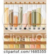 Poster, Art Print Of Bulk Shop Grocery Illustration