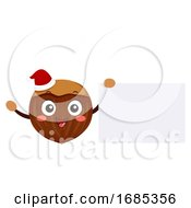 Mascot Chestnut Board Illustration