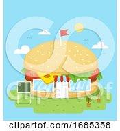 Poster, Art Print Of Hamburger Store Illustration