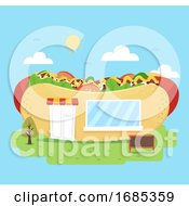 Hotdog Store Illustration