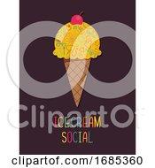 Ice Cream Poster Design Illustration