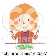 Kid Girl Hand Arthritis Adoptive Tool Illustration