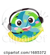 Mascot Earth Hotline International Illustration