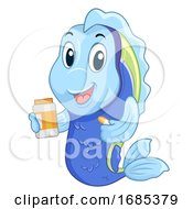 Fish Mascot Medicine Illustration