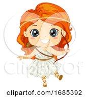 Kid Girl Greek Goddess Artemis Costume