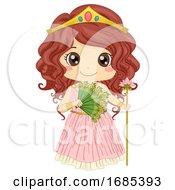 Kid Girl Greek Goddess Hera Costume Illustration