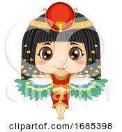 Kid Girl Egyptian Goddess Isis Illustration