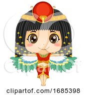 Kid Girl Egyptian Goddess Isis Illustration
