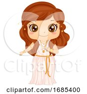 Kid Girl Aphrodite Costume Illustration