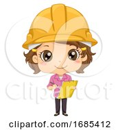 Kid Girl Engineer Illustration by BNP Design Studio
