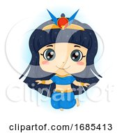 Kid Girl Egyptian Goddess Nut Sky God Illustration