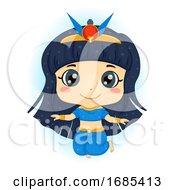 Kid Girl Egyptian Goddess Nut Sky God Illustration