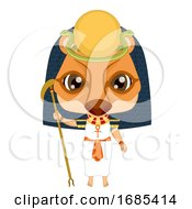 Kid Girl Egyptian God Tefnut Costume Illustration