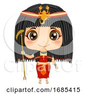 Kid Girl Egyptian God Serket Costume Illustration