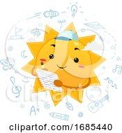 Mascot Sun Summer Journal Illustration