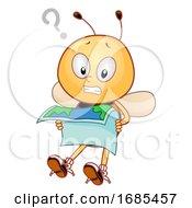 Bee Mascot Lost Illustration