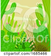 Desert Cactus Illustration