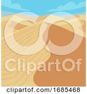 Desert Sand Dunes Illustration