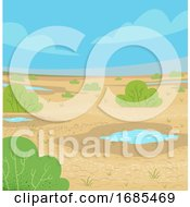 Wet Desert Illustration