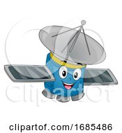 Mascot Satellite Illustration