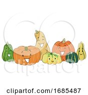 Mascot Pumpkins Illustration