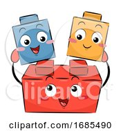 Mascot Plastic Blocks Illustration