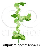 Caterpillars Mascot Alphabet Illustration