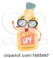 Mascot Sunscreen Illustration