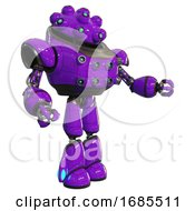 Automaton Containing Techno Multi Eyed Domehead Design And Heavy Upper Chest And Chest Energy Sockets And Light Leg Exoshielding Purple Interacting