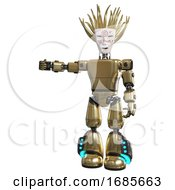 Robot Containing Humanoid Face Mask And Die Robots Graffiti Design And Light Chest Exoshielding And Prototype Exoplate Chest And Light Leg Exoshielding And Megneto Hovers Foot Mod Gold
